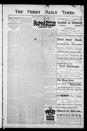 Primary view of object titled 'The Perry Daily Times. (Perry, Okla.), Vol. 2, No. 108, Ed. 1 Monday, January 28, 1895'.