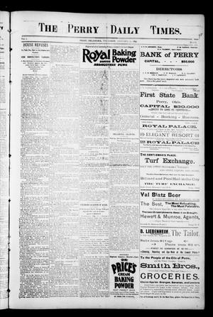 Primary view of object titled 'The Perry Daily Times. (Perry, Okla.), Vol. 2, No. 111, Ed. 1 Thursday, January 31, 1895'.