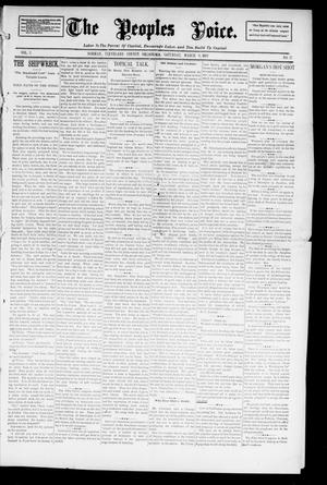 Primary view of object titled 'The Peoples Voice. (Norman, Okla.), Vol. 3, No. 32, Ed. 1 Saturday, March 9, 1895'.