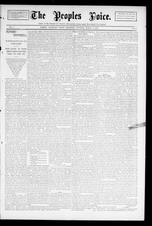 Primary view of object titled 'The Peoples Voice. (Norman, Okla.), Vol. 3, No. 35, Ed. 1 Saturday, March 30, 1895'.