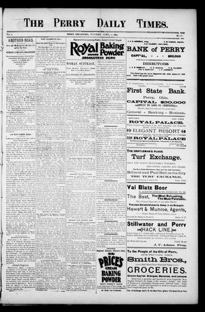 The Perry Daily Times. (Perry, Okla.), Vol. 2, No. 162, Ed. 1 Tuesday, April 2, 1895