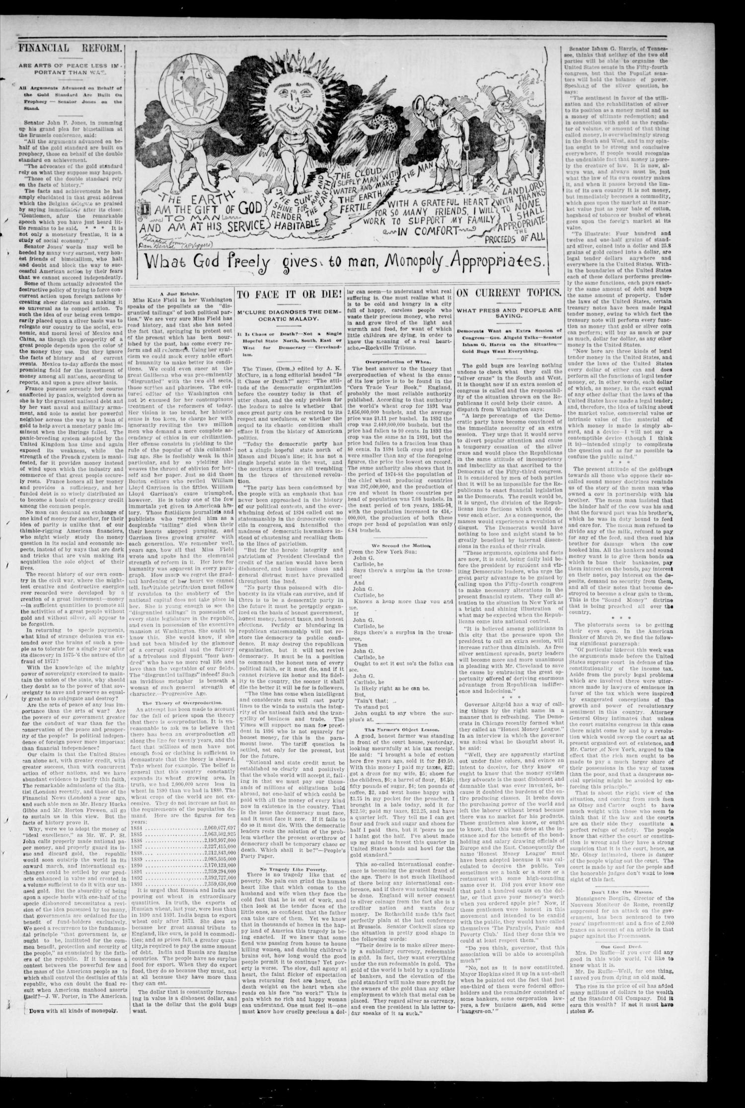 The Peoples Voice. (Norman, Okla.), Vol. 3, No. 43, Ed. 1 Saturday, May 25, 1895                                                                                                      [Sequence #]: 3 of 8