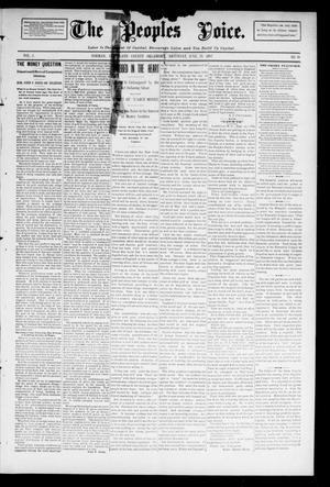 Primary view of object titled 'The Peoples Voice. (Norman, Okla.), Vol. 3, No. 48, Ed. 1 Saturday, June 29, 1895'.