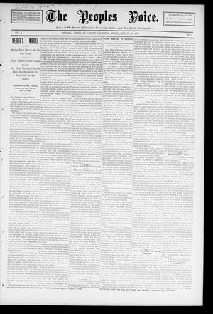 The Peoples Voice. (Norman, Okla.), Vol. 4, No. 3, Ed. 1 Friday, August 16, 1895