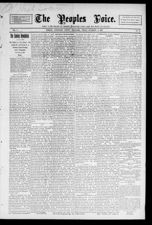 Primary view of object titled 'The Peoples Voice. (Norman, Okla.), Vol. 4, No. 20, Ed. 1 Friday, December 13, 1895'.