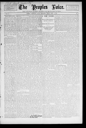 The Peoples Voice. (Norman, Okla.), Vol. 4, No. 39, Ed. 1 Friday, April 24, 1896