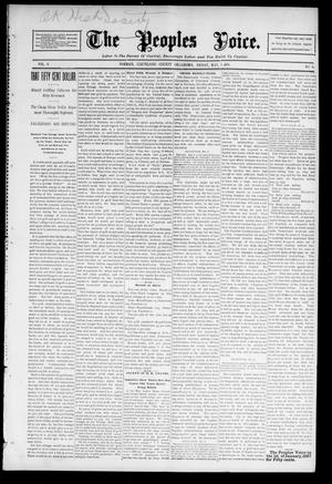 Primary view of object titled 'The Peoples Voice. (Norman, Okla.), Vol. 4, No. 40, Ed. 1 Friday, May 1, 1896'.
