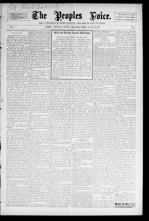The Peoples Voice. (Norman, Okla.), Vol. 5, No. 5, Ed. 1 Friday, August 28, 1896