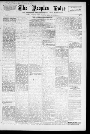 The Peoples Voice. (Norman, Okla.), Vol. 5, No. 7, Ed. 1 Friday, September 11, 1896