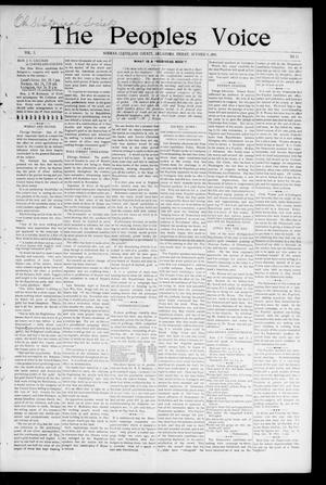 The Peoples Voice (Norman, Okla.), Vol. 5, No. 11, Ed. 1 Friday, October 9, 1896