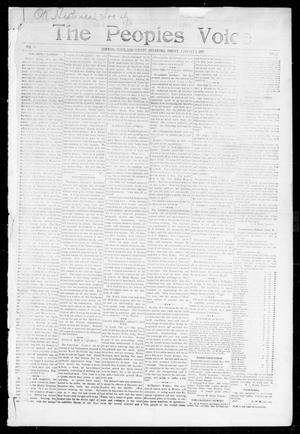 Primary view of object titled 'The Peoples Voice (Norman, Okla.), Vol. 5, No. 23, Ed. 1 Friday, January 1, 1897'.