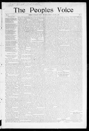 Primary view of object titled 'The Peoples Voice (Norman, Okla.), Vol. 5, No. 24, Ed. 1 Friday, January 8, 1897'.