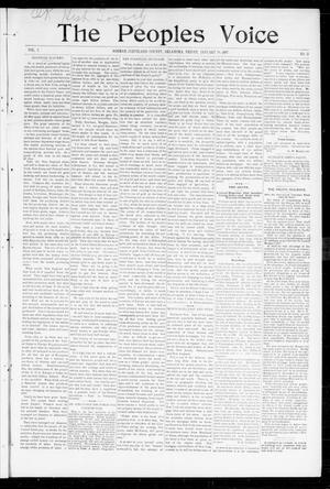 Primary view of object titled 'The Peoples Voice (Norman, Okla.), Vol. 5, No. 27, Ed. 1 Friday, January 29, 1897'.