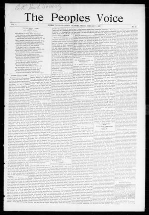 Primary view of object titled 'The Peoples Voice (Norman, Okla.), Vol. 5, No. 28, Ed. 1 Friday, February 5, 1897'.