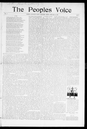 Primary view of object titled 'The Peoples Voice (Norman, Okla.), Vol. 5, No. 29, Ed. 1 Friday, February 12, 1897'.