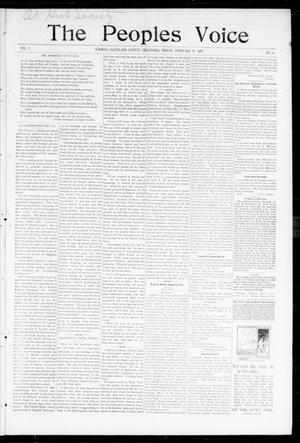 Primary view of object titled 'The Peoples Voice (Norman, Okla.), Vol. 5, No. 30, Ed. 1 Friday, February 19, 1897'.