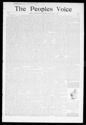 Primary view of object titled 'The Peoples Voice (Norman, Okla.), Vol. 5, No. 32, Ed. 1 Friday, March 5, 1897'.