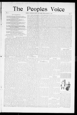 Primary view of object titled 'The Peoples Voice (Norman, Okla.), Vol. 5, No. 33, Ed. 1 Friday, March 12, 1897'.
