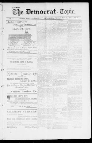 Primary view of object titled 'The Democrat-Topic. (Norman, Okla.), Vol. 8, No. 42, Ed. 1 Friday, May 21, 1897'.