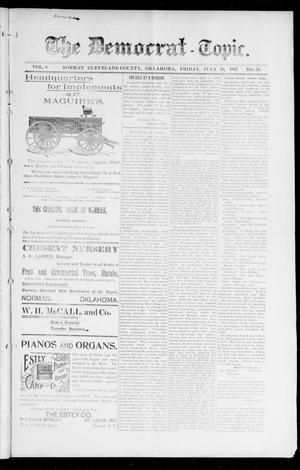 Primary view of object titled 'The Democrat-Topic. (Norman, Okla.), Vol. 8, No. 50, Ed. 1 Friday, July 16, 1897'.