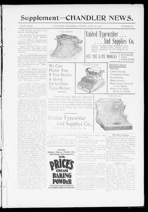 Primary view of object titled 'The Chandler News. (Chandler, Okla.), Vol. 6, No. 44, Ed. 2 Friday, July 16, 1897'.