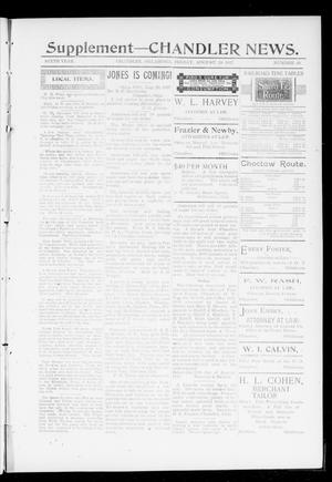 Primary view of object titled 'The Chandler News. (Chandler, Okla.), Vol. 6, No. 49, Ed. 2 Friday, August 20, 1897'.
