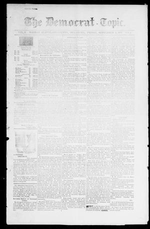 Primary view of object titled 'The Democrat-Topic. (Norman, Okla.), Vol. 9, No. 5, Ed. 1 Friday, September 3, 1897'.