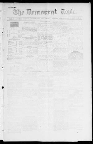Primary view of object titled 'The Democrat-Topic. (Norman, Okla.), Vol. 9, No. 6, Ed. 1 Friday, September 10, 1897'.