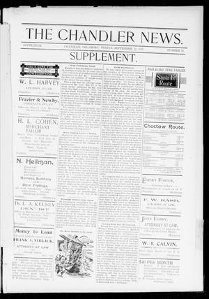 Primary view of object titled 'The Chandler News. (Chandler, Okla.), Vol. 6, No. 52, Ed. 2 Friday, September 10, 1897'.