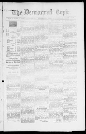 Primary view of object titled 'The Democrat-Topic. (Norman, Okla.), Vol. 9, No. 7, Ed. 1 Friday, September 17, 1897'.