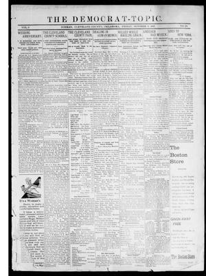 Primary view of object titled 'The Democrat-Topic. (Norman, Okla.), Vol. 9, No. 10, Ed. 1 Friday, October 8, 1897'.