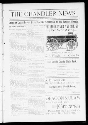 Primary view of object titled 'The Chandler News. (Chandler, Okla.), Vol. 7, No. 3, Ed. 2 Friday, October 8, 1897'.