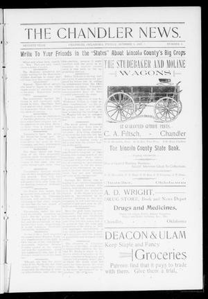Primary view of object titled 'The Chandler News. (Chandler, Okla.), Vol. 7, No. 3, Ed. 3 Friday, October 8, 1897'.
