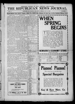 Primary view of The Republican News Journal. (Newkirk, Okla.), Vol. 14, No. 33, Ed. 1 Friday, May 10, 1907