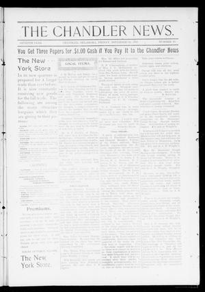 Primary view of object titled 'The Chandler News. (Chandler, Okla.), Vol. 7, No. 10, Ed. 2 Friday, November 26, 1897'.