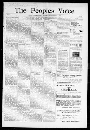 Primary view of The Peoples Voice (Norman, Okla.), Vol. 6, No. 28, Ed. 1 Friday, February 4, 1898