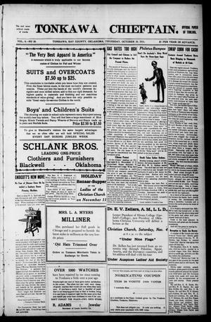 Primary view of Tonkawa Chieftain. (Tonkawa, Okla.), Vol. 8, No. 20, Ed. 1 Thursday, October 26, 1911