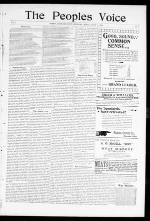 The Peoples Voice (Norman, Okla.), Vol. 7, No. 5, Ed. 1 Friday, August 26, 1898