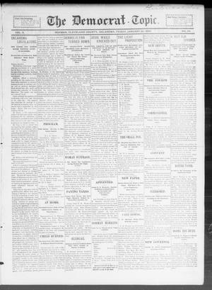 Primary view of object titled 'The Democrat-Topic. (Norman, Okla.), Vol. 10, No. 24, Ed. 1 Friday, January 20, 1899'.