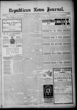 Primary view of Republican News Journal. (Newkirk, Okla. Terr.), Vol. 8, No. 9, Ed. 1 Friday, December 14, 1900