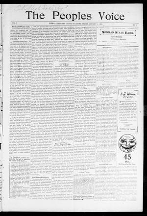 The Peoples Voice (Norman, Okla.), Vol. 7, No. 26, Ed. 1 Thursday, January 26, 1899