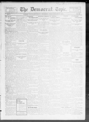 Primary view of object titled 'The Democrat-Topic. (Norman, Okla.), Vol. 10, No. 25, Ed. 1 Friday, January 27, 1899'.