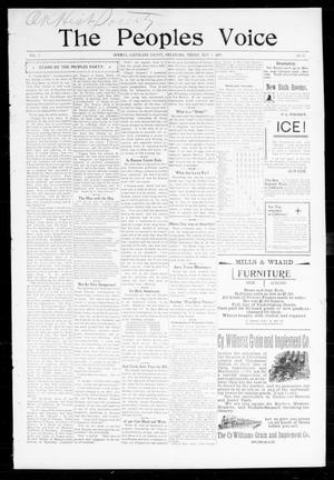 Primary view of object titled 'The Peoples Voice (Norman, Okla.), Vol. 7, No. 41, Ed. 1 Wednesday, May 3, 1899'.