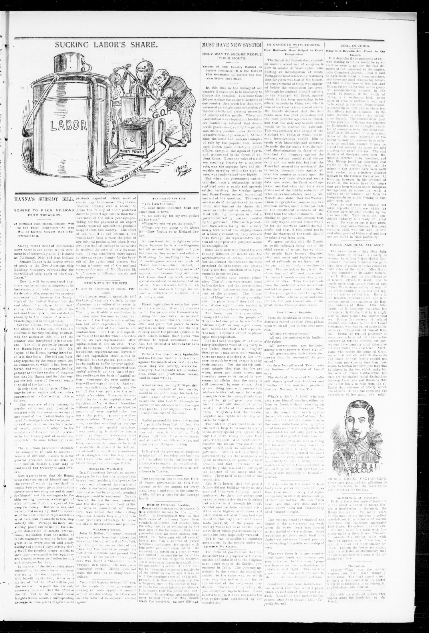 The Peoples Voice (Norman, Okla.), Vol. 7, No. 46, Ed. 1 Wednesday, June 7, 1899                                                                                                      [Sequence #]: 3 of 8