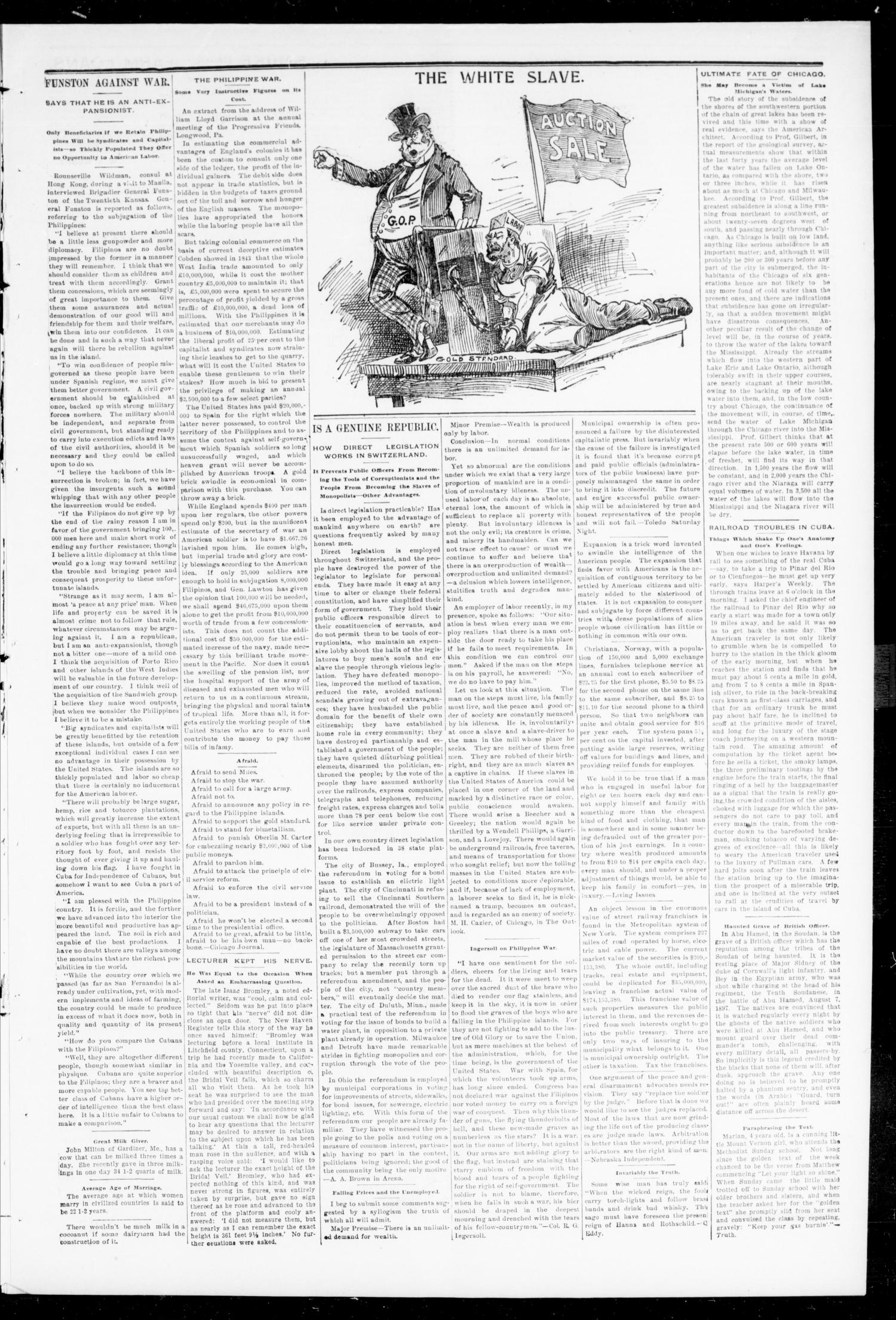 The Peoples Voice (Norman, Okla.), Vol. 8, No. 2, Ed. 1 Friday, August 4, 1899                                                                                                      [Sequence #]: 3 of 8