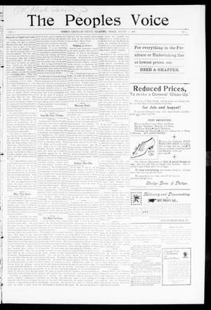 The Peoples Voice (Norman, Okla.), Vol. 8, No. 3, Ed. 1 Tuesday, August 22, 1899