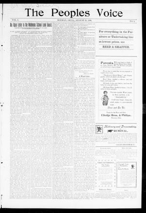 The Peoples Voice (Norman, Okla.), Vol. 8, No. 5, Ed. 1 Friday, August 25, 1899