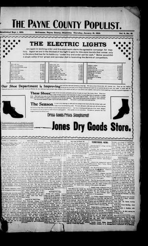 The Payne County Populist. (Stillwater, Okla.), Vol. 9, No. 19, Ed. 1 Thursday, January 18, 1900