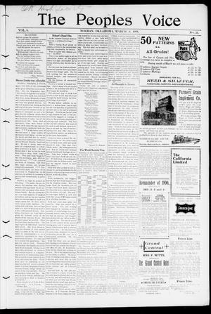The Peoples Voice (Norman, Okla.), Vol. 8, No. 33, Ed. 1 Friday, March 9, 1900