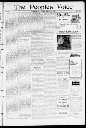 The Peoples Voice (Norman, Okla.), Vol. 8, No. 34, Ed. 1 Friday, March 16, 1900
